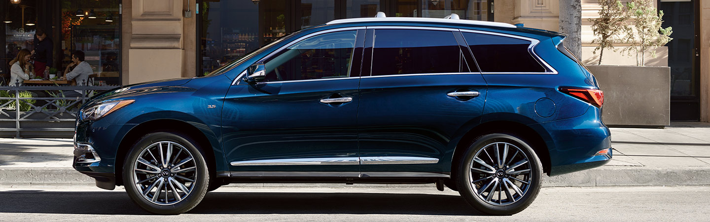 Side profile of the 2020 INFINITI QX60 in Oklahoma City, OK
