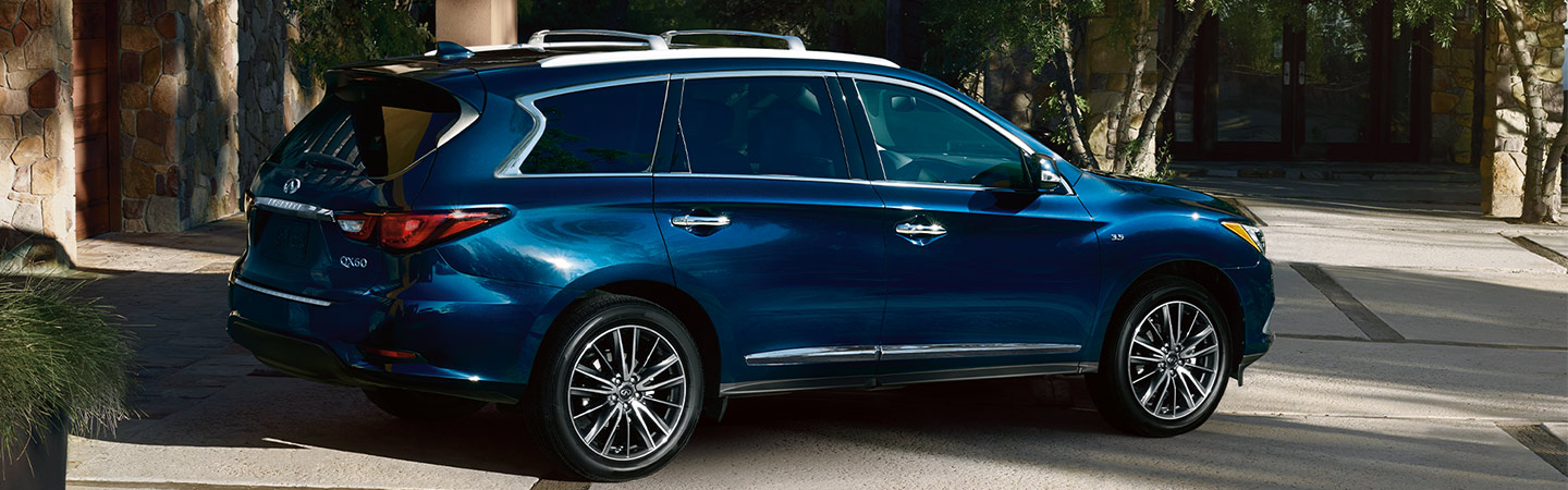 Rear view of the 2020 INFINITI QX60 available at Bob Moore INFINITI