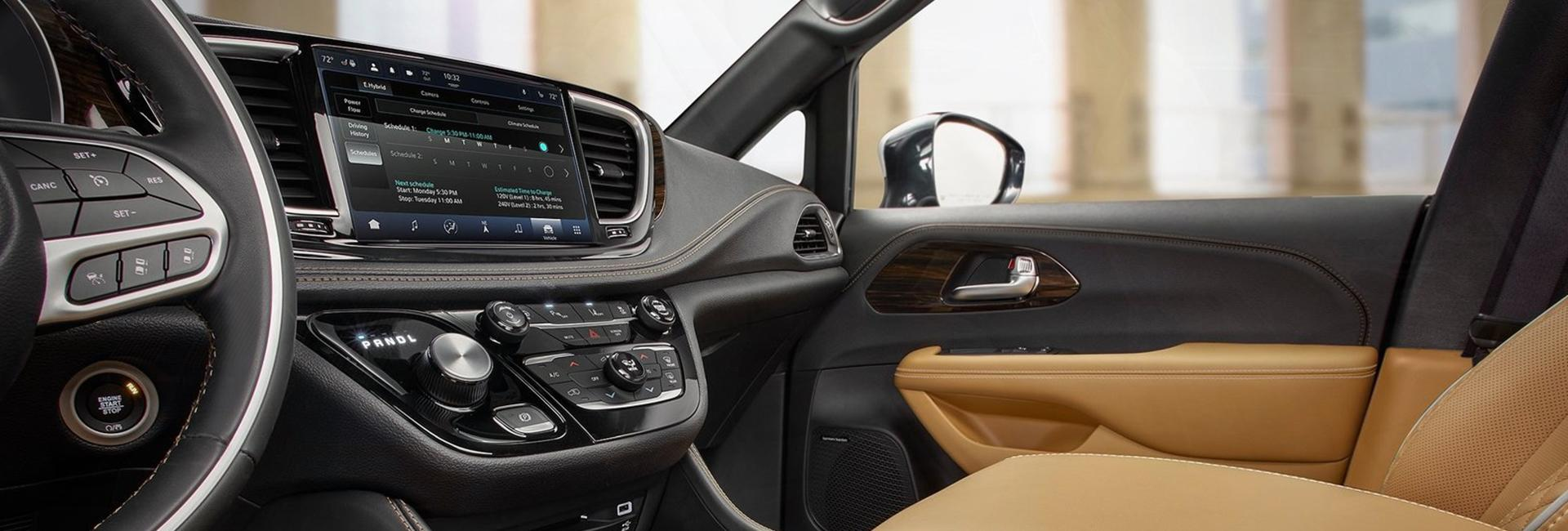 Interior view of the front passenger seat of the 2021 Pacifica
