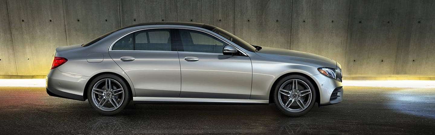 Side profile of the 2019 Mercedes-Benz E-Class, available at Mercedes-Benz of Gainesville