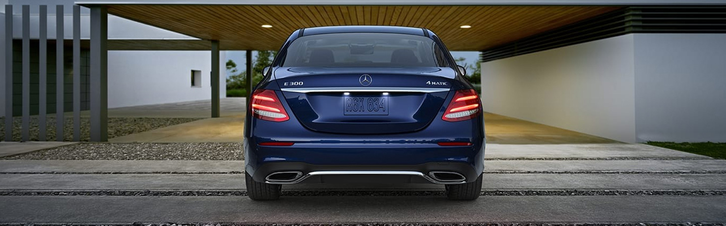 Rear view of the 2019 Mercedes-Benz E-Class parked and available at our Mercedes-Benz dealership