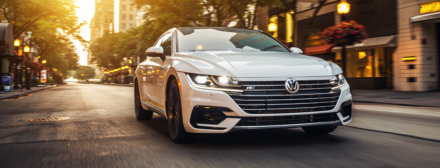 2019 Volkswagen Arteon - White - Front End - Driving on the road