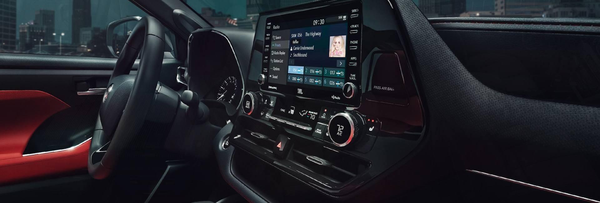 Interior image of the 2021 Toyota Highlander