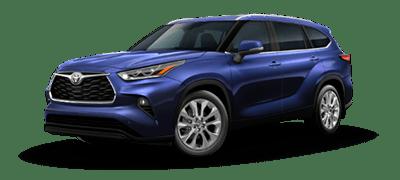light blue 2021 Toyota Highlander Limited