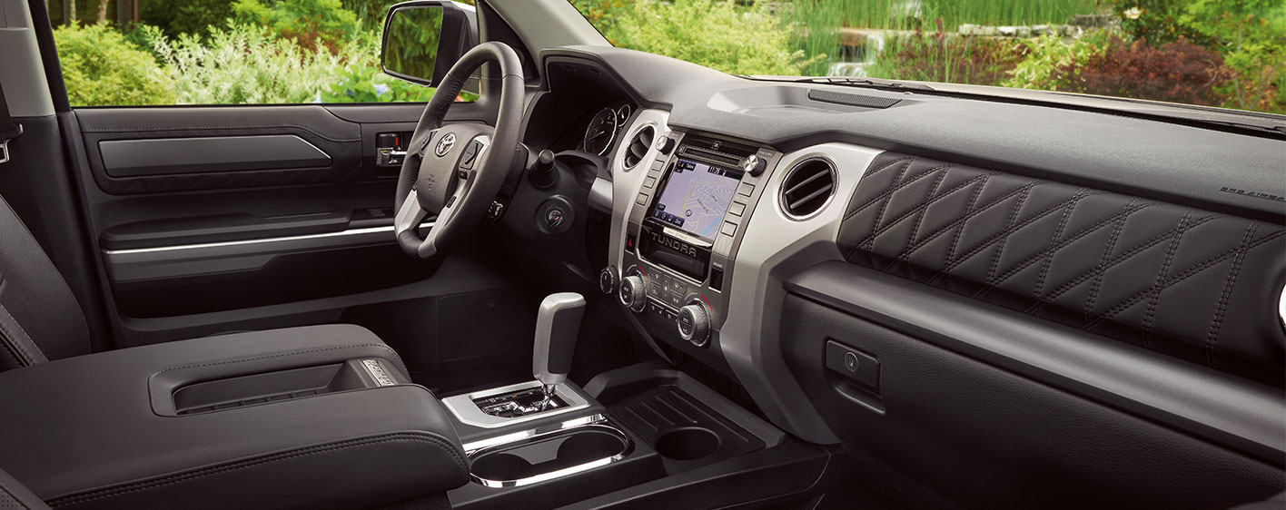 Safety features and interior of the 2019 Toyota Tundra - available at our Toyota dealership in Atlanta, GA