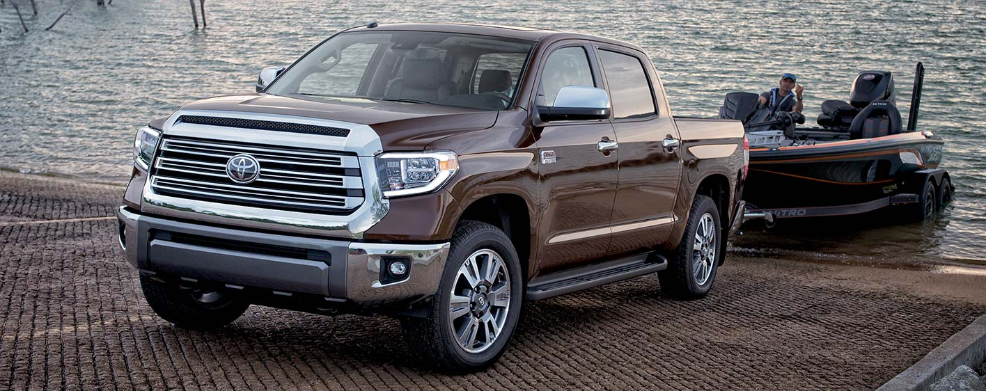 2019 Toyota Tundra Exterior - Parked on a boat ramp towing a fishing boat