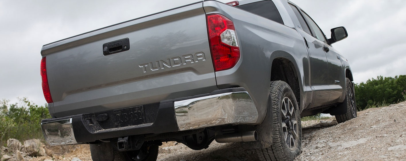 2019 Toyota Tundra Rear Exterior - Driving on a Dirt Road