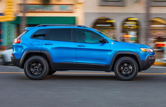 Exterior image of the 2020 Jeep Cherokee for sale.