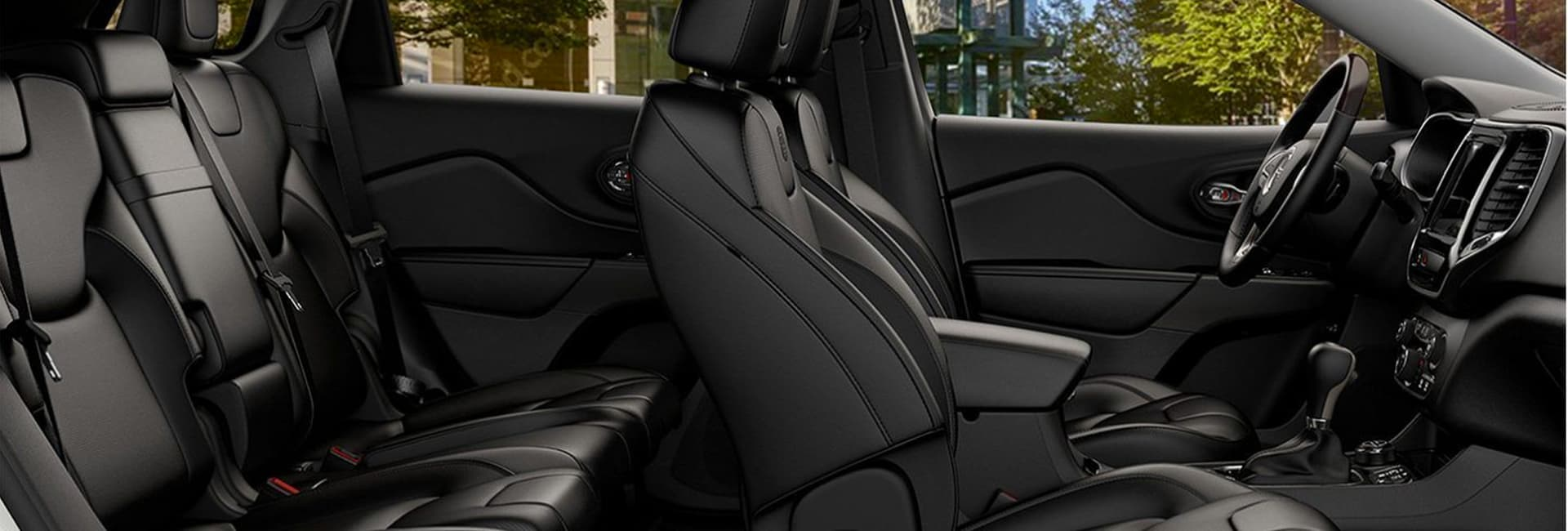 Interior image of the 2020 Jeep Cherokee for sale.