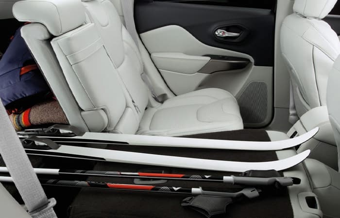 Rear seat of the 2020 Jeep Cherokee