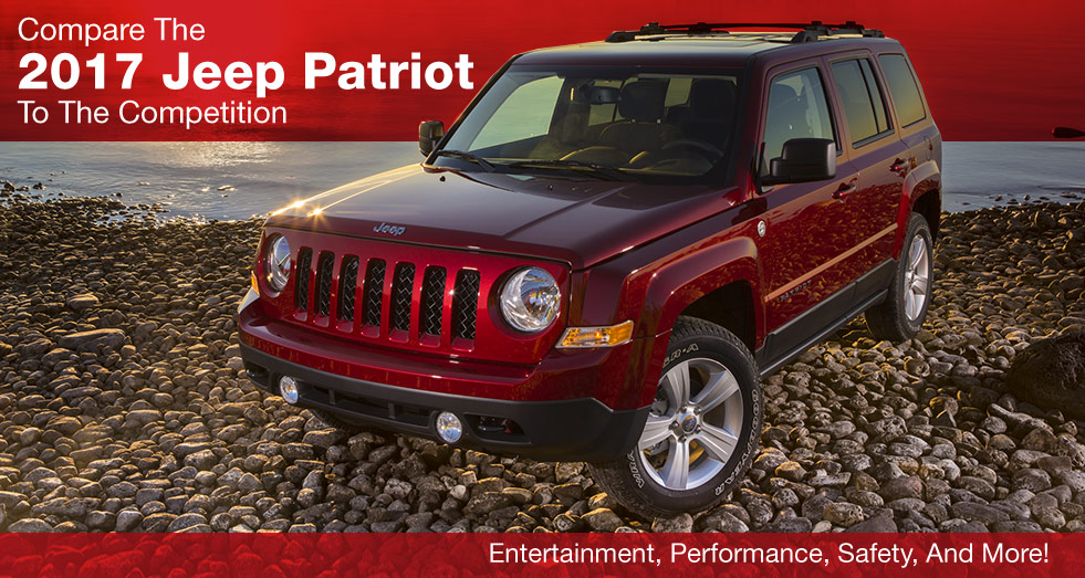 Compare the 2017 Jeep Patriot to the competition, Southern Chrysler Jeep Greenbrier, Chesapeake, Virginia Beach, Suffolk, Norfolk, Portsmouth, VA