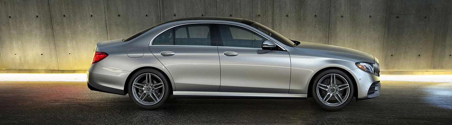 Side profile of the 2019 Mercedes-Benz E-Class available in Gainesville, FL