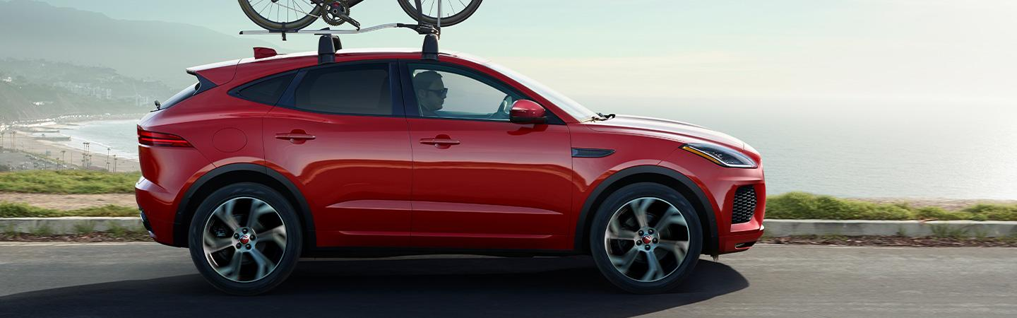 Jaguar E-Pace exterior side view at the beach