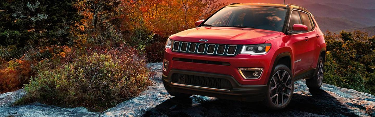Exterior image of the 2020 Jeep Compass for sale