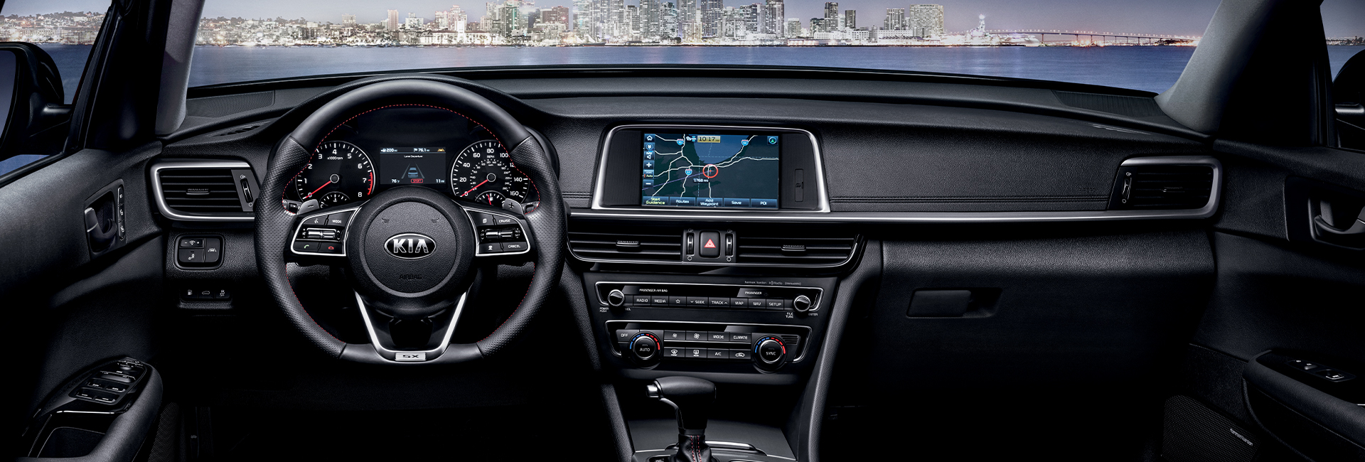 Interior image of the 2020 Kia Optima for sale at Spitzer Kia Mansfield