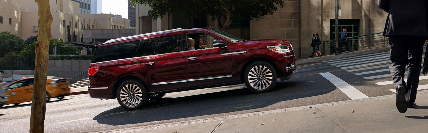 2019 Lincoln Navigator in motion up a hill in Wilkes-Barre, PA