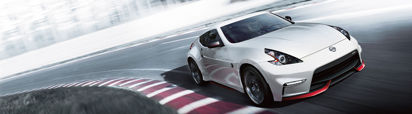 2020 Nissan 370Z in motion, available at Bob Moore Nissan in Oklahoma City.
