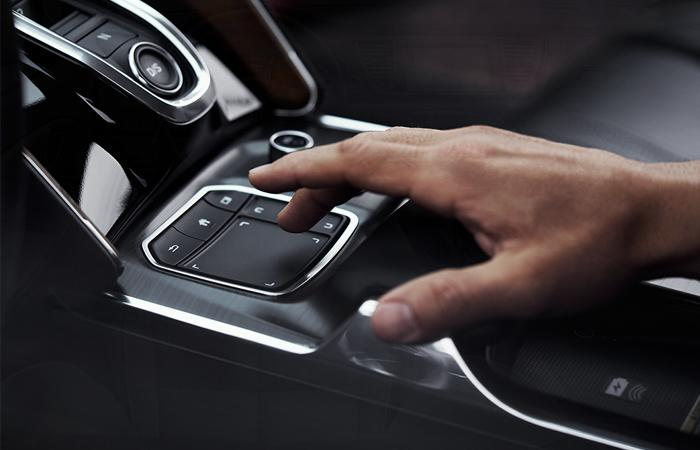 A view of the high tech center console of the Acura TLX