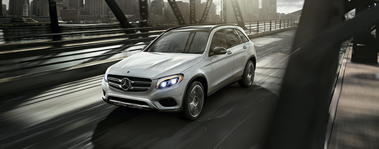 Mercedes-Benz GLC driving on a bridge