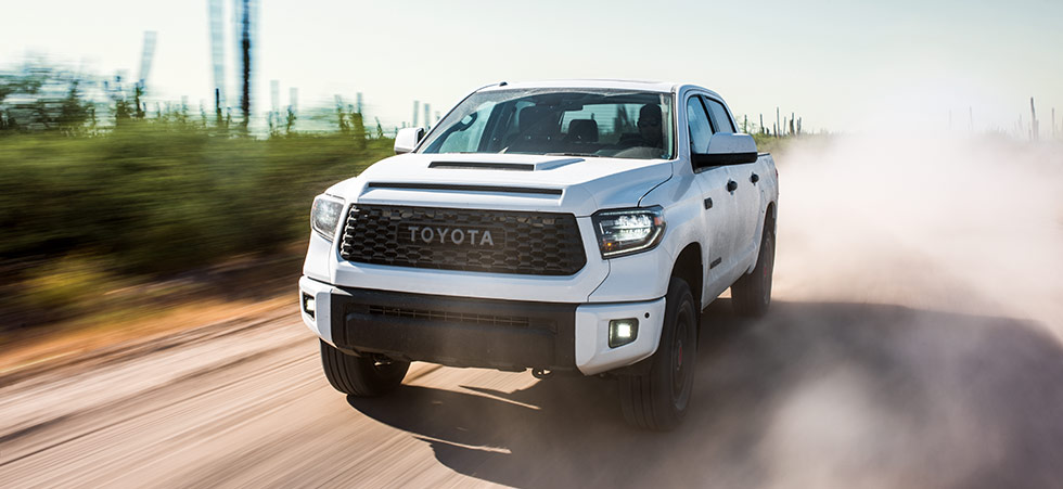 2019 Toyota Tundra TRD Pro Exterior - Driving on a dirt road.