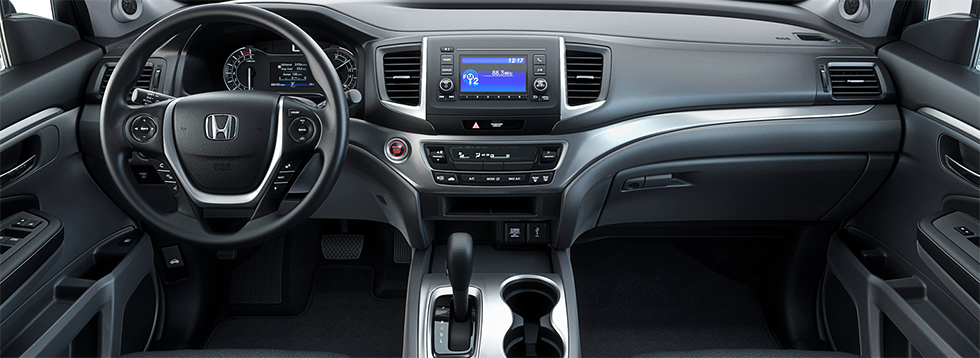 Safety features and interior of the 2019 Honda Ridgeline - available at our Honda dealership near Fort Myers, FL.