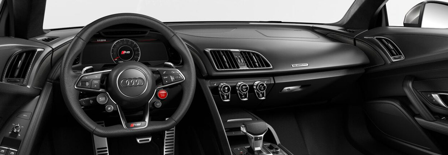 Audi R8 steering wheel and interior