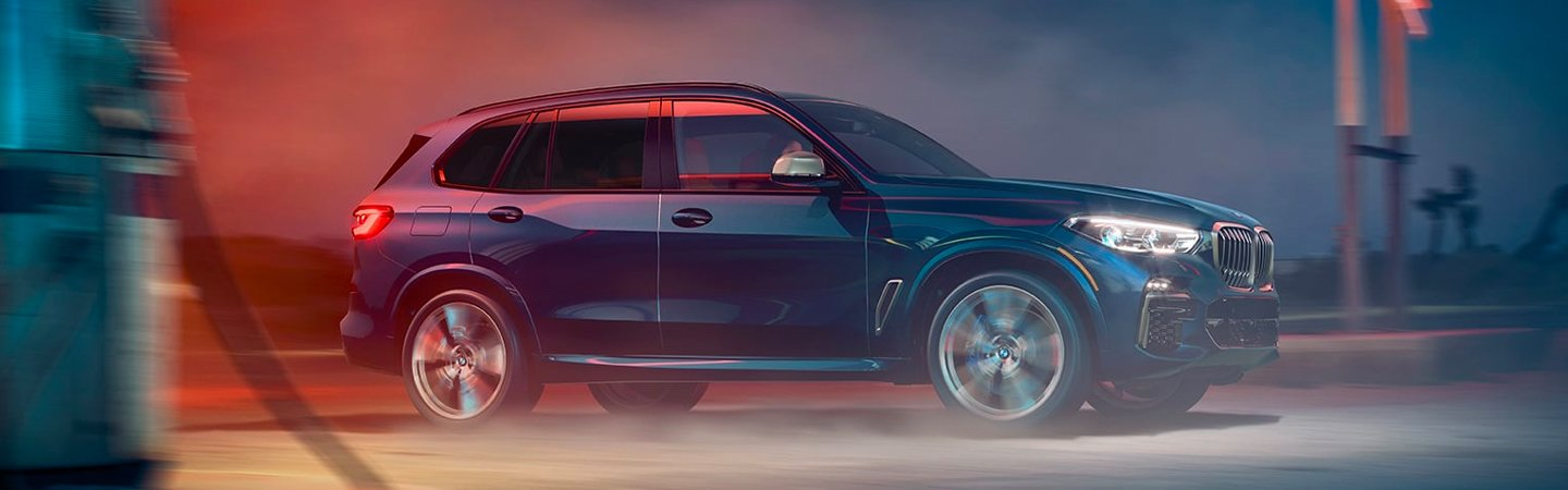 2020 BMW X5 driving on a road