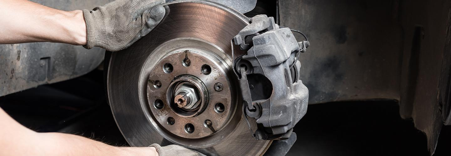 Brake service for a Volkswagen at Vista VW Pompano Beach