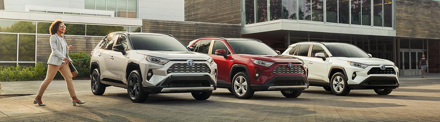 2020 Toyota RAV4 Hybrid vehicles parked