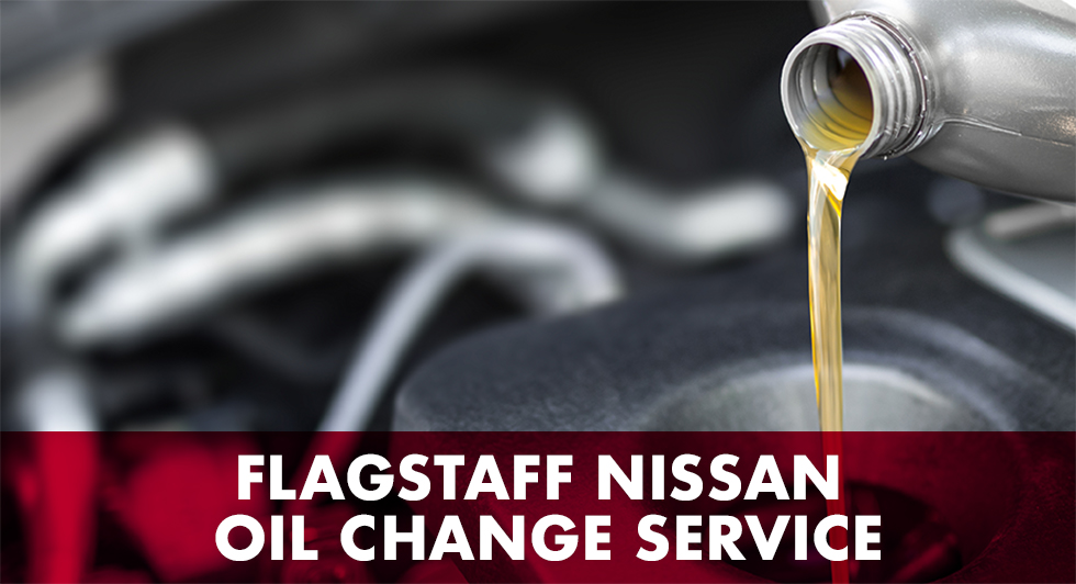 Oil change service is available at our Nissan dealership in Flagstaff, AZ.