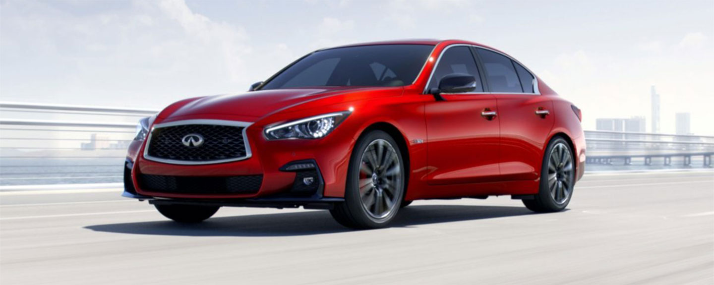 Front left view of 2018 INFINITI Q50