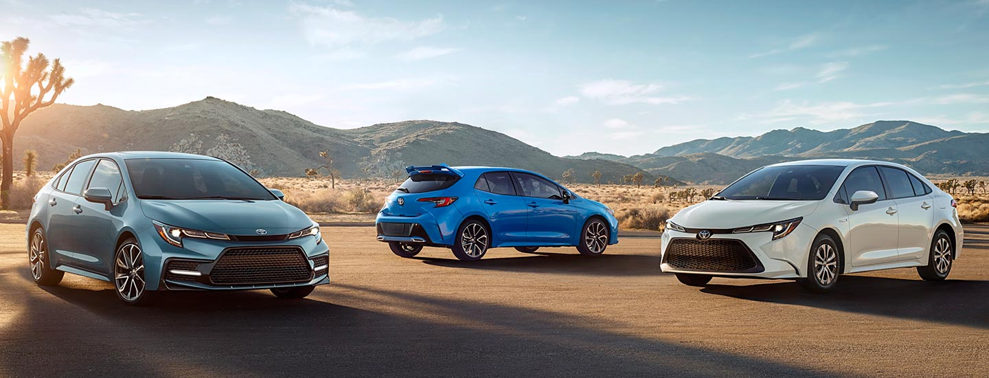 Exterior of the 2020 Toyota Corolla Hybrid available at Toyota of Rock Hill