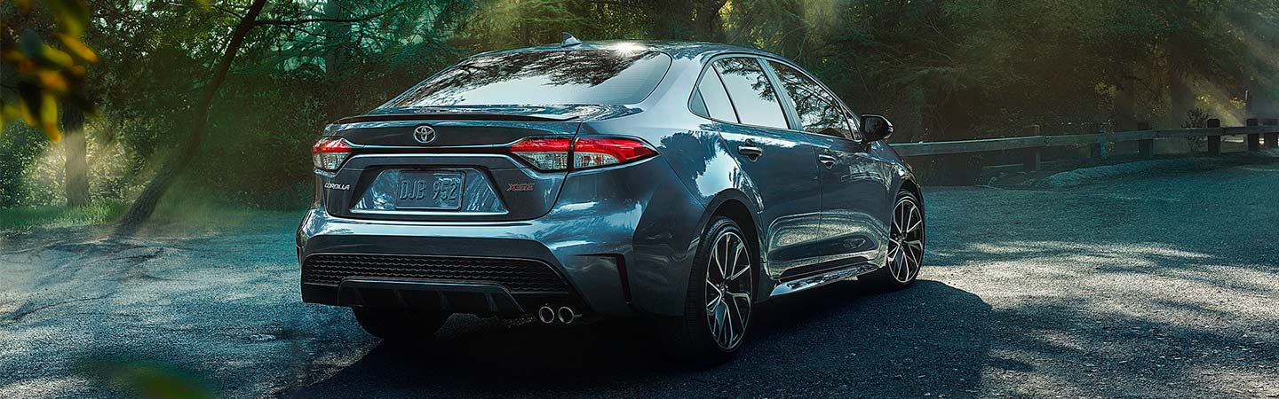 Exterior of the 2020 Toyota Corolla Hybrid