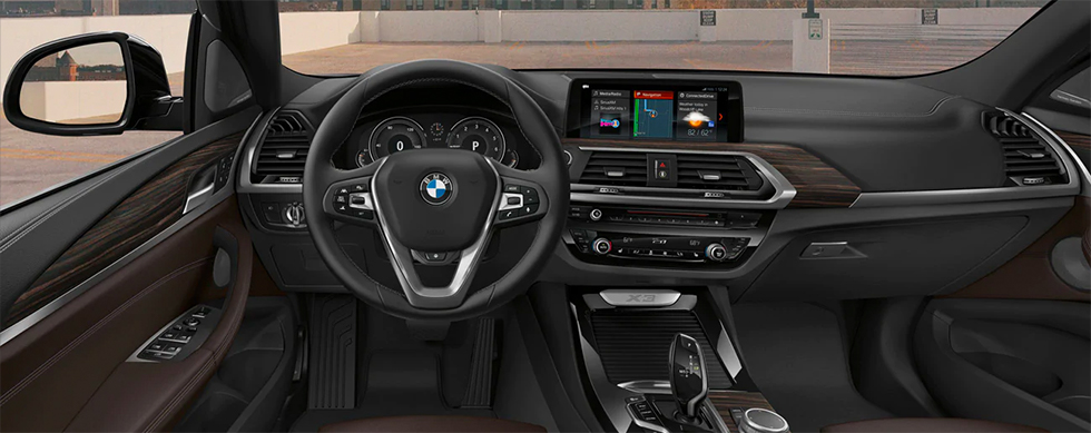 Safety features and interior of the 2019 BMW X3 - available at our BMW dealership near Columbia, SC.