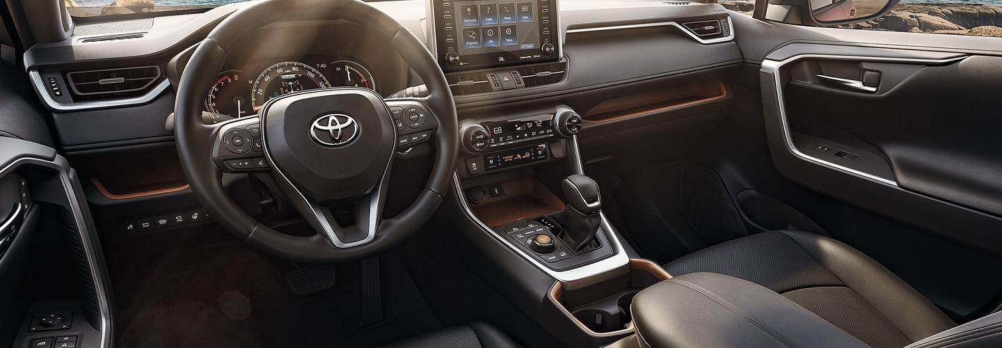 Interior image of the new 2020 Toyota RAV4