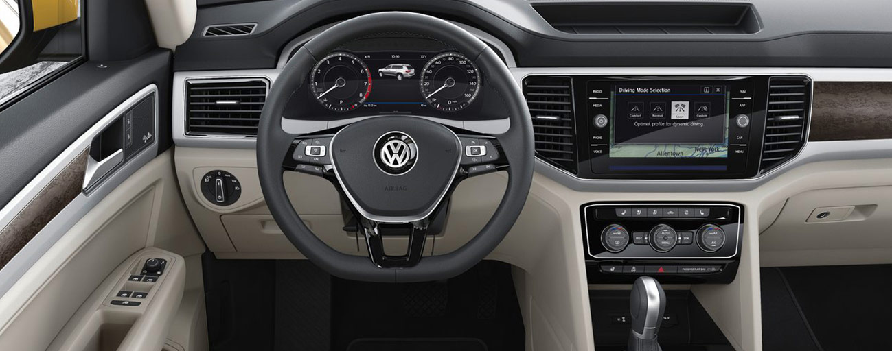 Safety features and interior of the 2018 Volkswagen Atlas - available at our Volkswagen dealership near Fort Lauderdale, FL