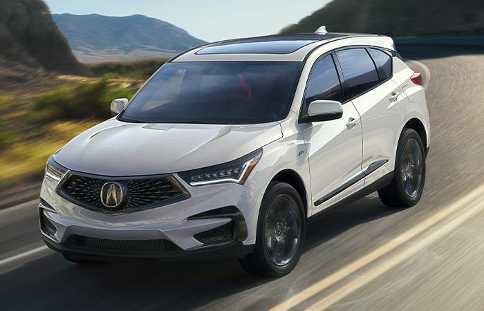 White 2021 RDX in motion
