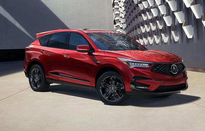 Red 2021 RDX parked