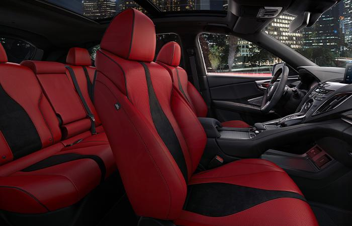 Red interior leather on the 2021 Acura RDX