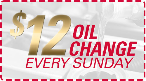 $12 Oil Change Every Sunday
