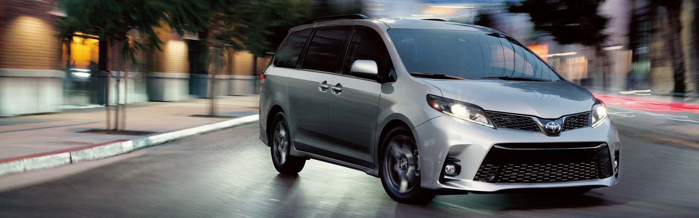 Exterior of the 2020 Toyota Sienna available at our Columbus car dealership