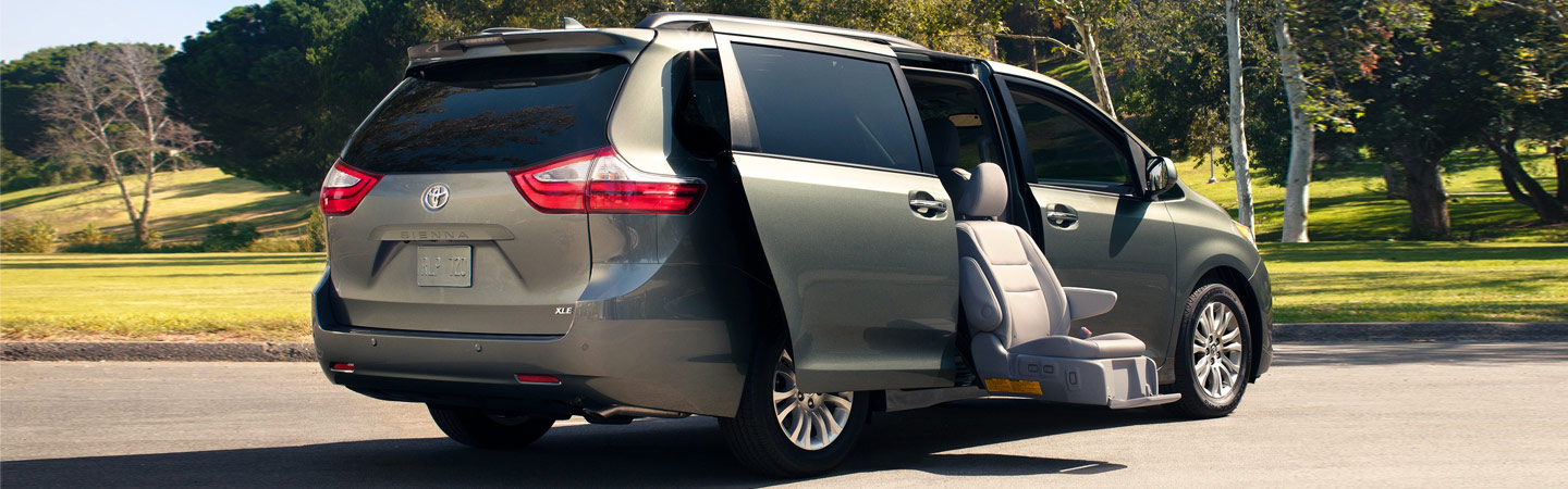 Exterior of the 2020 Toyota Sienna available at our dealership in Columbus