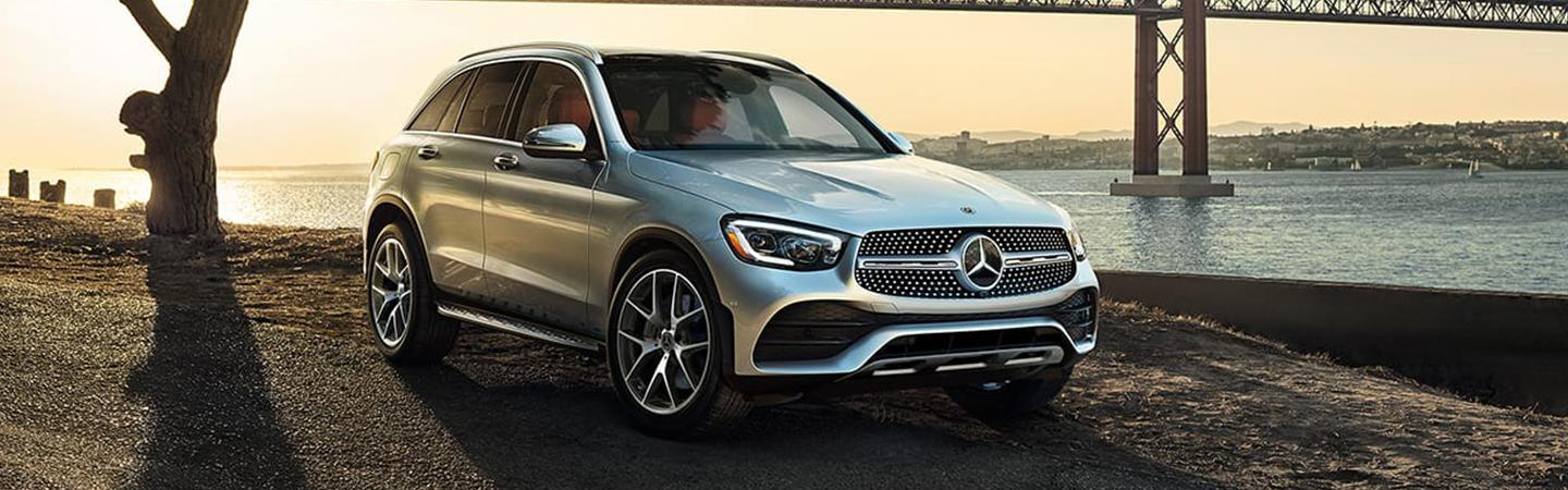 2020 Mercedes-Benz GLC parked by a bridge