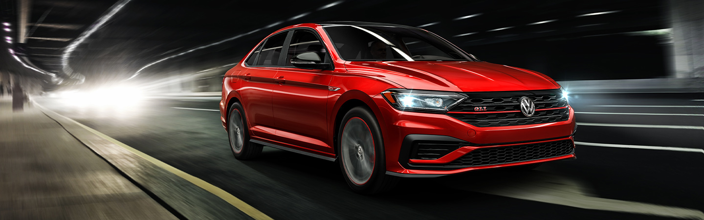 2019 Volkswagen Jetta GLI - Red - Exterior - Driving in a tunnel