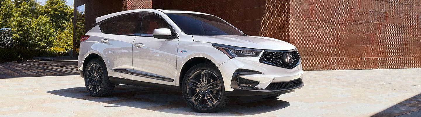 Front passenger view of the 2021 RDX