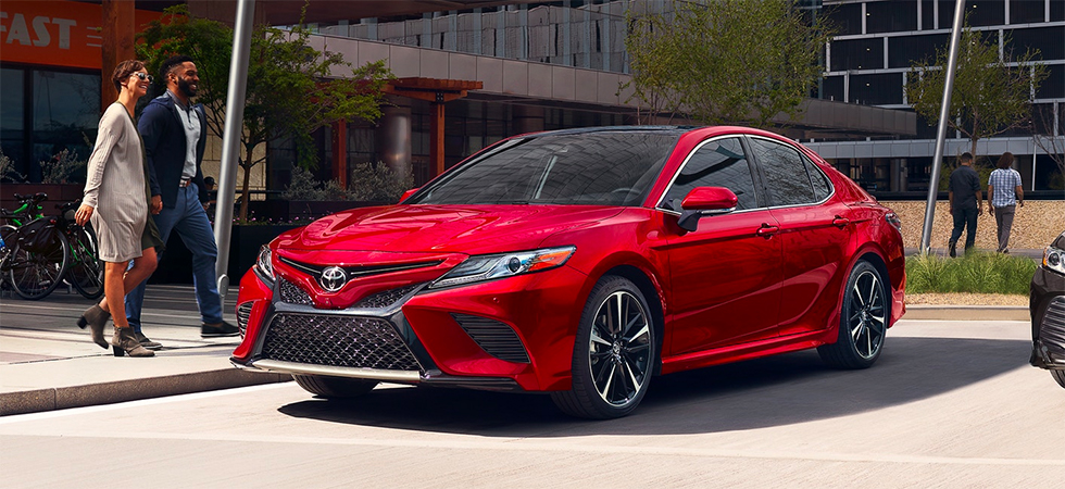 Explore safety features in the 2019 Toyota Camry at Rivertown Toyota.