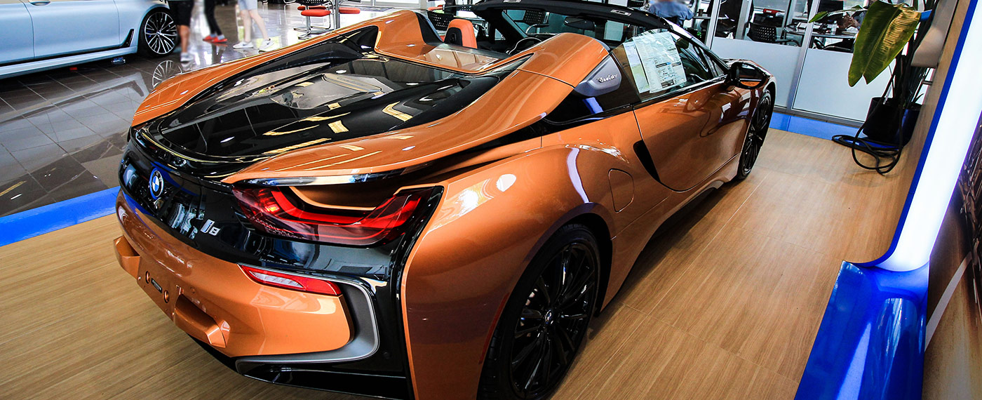 Back-Right of BMW i8 Roaster at South Motors BMW in Miami