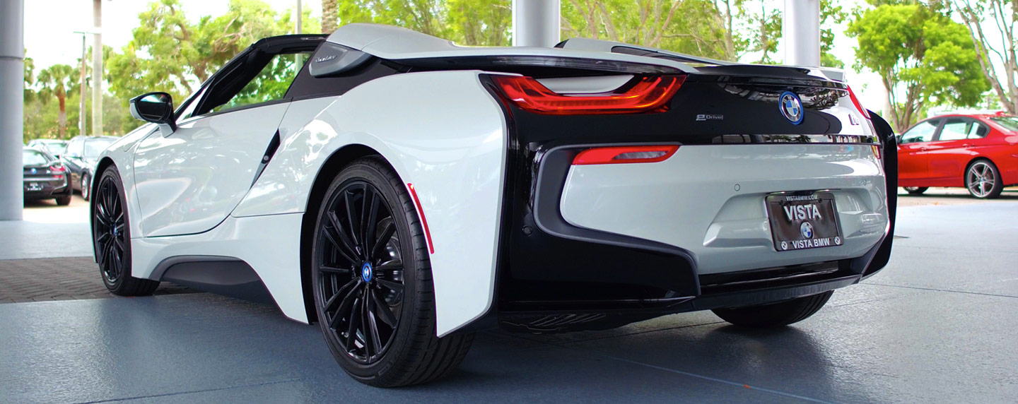 The 2019 BMW i8 is available at Vista BMW Coconut Creek near Fort Lauderdale, FL