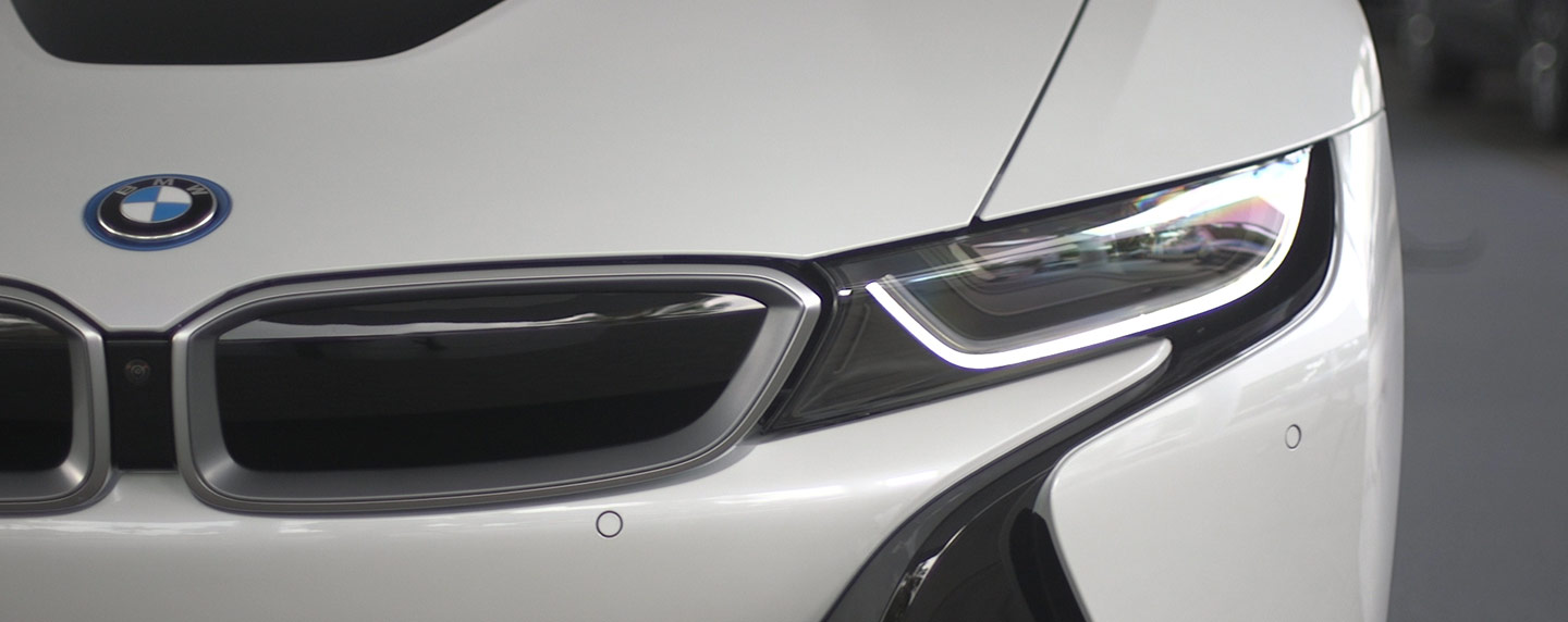 Headlights of the 2019 BMW i8