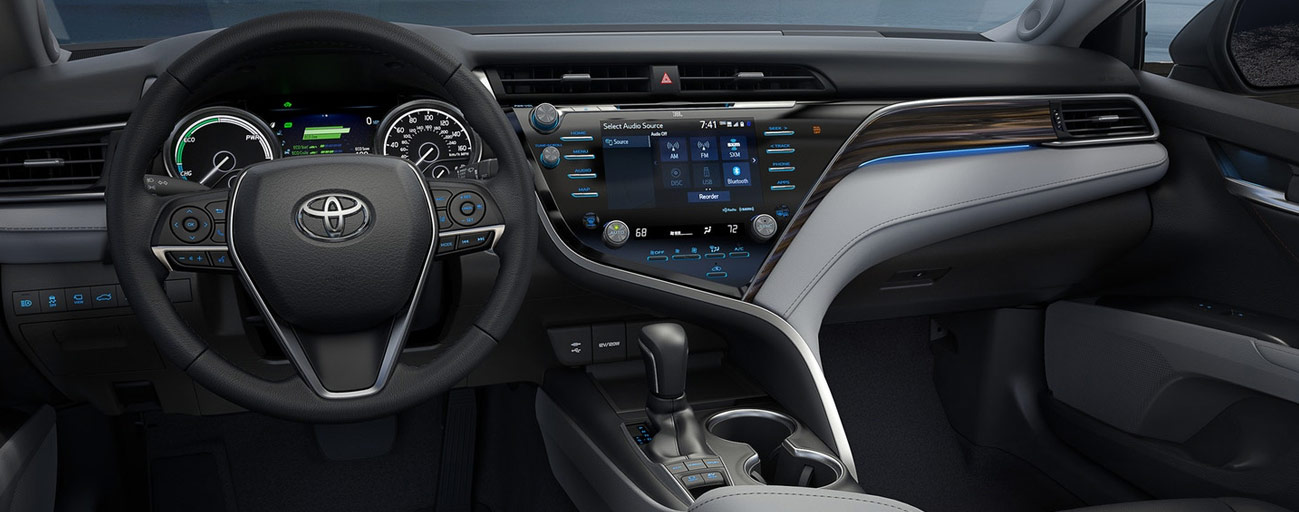 Safety features and interior of the 2018 Toyota Camry- available at our Toyota dealership in Columbus, GA